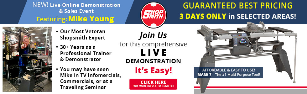 Check out our live online demonstration and sales events!